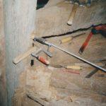Restauration escalier à vis en bois du XVIIème -  Reprise de structure.