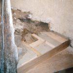Restauration escalier à vis en bois du XVIIème