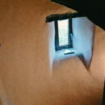 Enduit chaux chanvre  -tourelle d'escalier