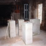 Cheminée XVII Taille de pierre - Pierres équarries avant taille