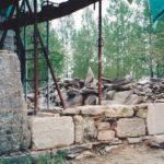 Démontage pignon et mur de façade - Reconstruction argile et pierre -En cours