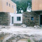 Maçonnerie pierre sèche sur maison neuve - Etat final