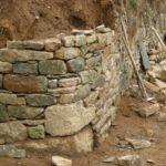 Maçonnerie pierre sèche - Mur de talutage - Manoir de Logueltas gîte de France