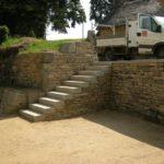 Maçonnerie pierre sèche et escalier pierre - Manoir de Logueltas gîte de France